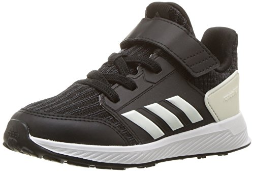 adidas Originals Unisex-Kids Rapidarun Running Shoe, Black/Cloud White/Carbon, 6 M US Big Kid