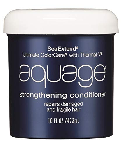 AQUAGE SeaExtend Strengthening Conditioner, 16 Oz, Luxurious Conditioner Prevents Haircolor Fade and Thermal Styling Damage, UVA/UVB Sunscreen Helps Prevent Fading