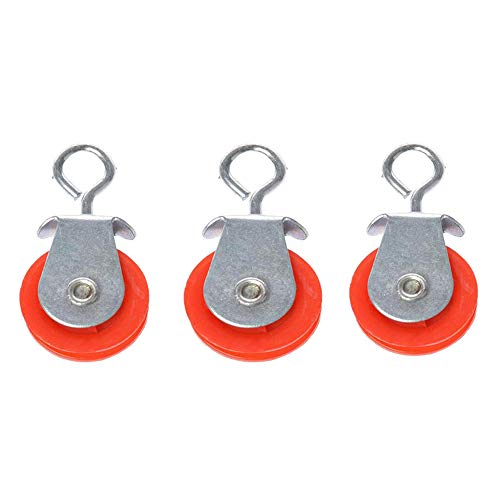 Rodillo de polea de plástico automático de pollo/pato Coop abridor de puerta con HookAccessories,1/3/5 PC, 45 mm, rojo