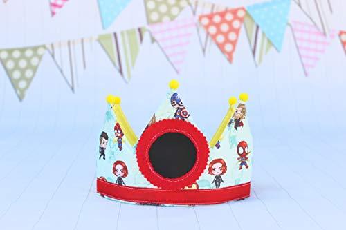 Pittitus corona de cumpleaños superhéroes regalo niños decoración superhéroes niños