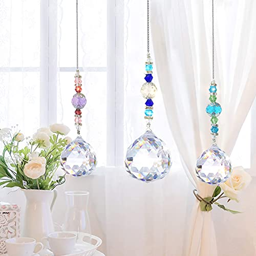 Cristal arcoíris,Bola de Cristal Colgante de Cristal, Arcoiris de Cristal,Colgante de Ventana...