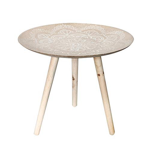 Zhuozi FUFU TAFEL, massief houten bijzettafel, rond, vintage salontafel in Noordse stijl, creatieve eettafel, schrijftafel