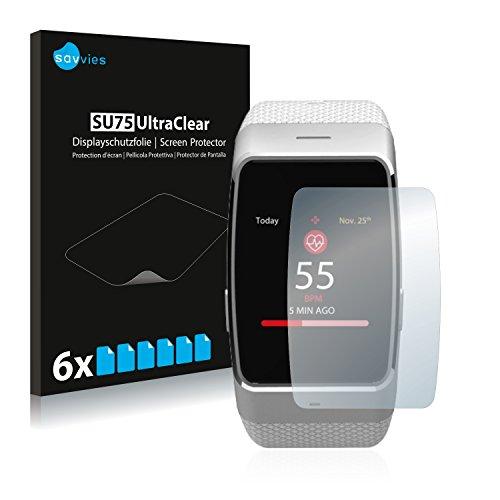 Savvies 6X Schutzfolie kompatibel mit MyKronoz ZeWatch 4 HR Bildschirmschutz-Folie Ultra-transparent