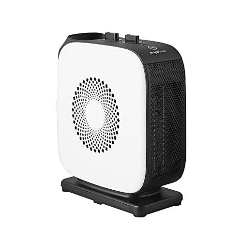 Amazon Basics Slim Portable Oscillating 2-Speed Fan Heater, 1500 W [UK Plug]