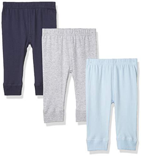 Luvable Friends Baby Cotton Pants, Blue Gray, 2T