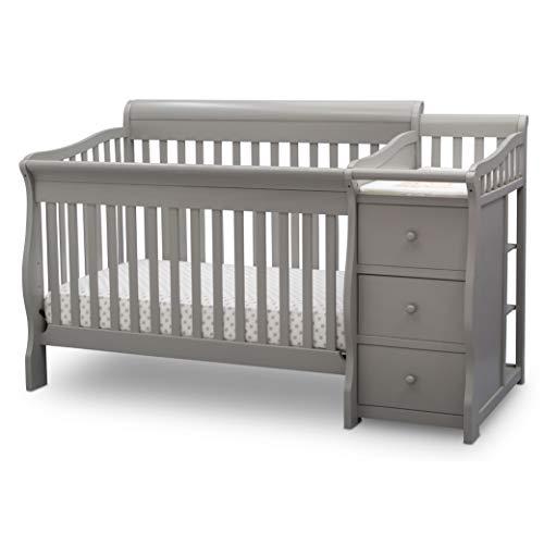 Delta Children Princeton Junction Convertible Crib and Changer, Grey
