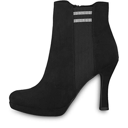 Tamaris Damen Stiefeletten Schwarz, Schuhgröße:EUR 40
