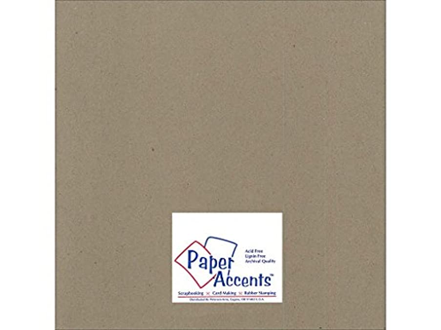 Accent Design Paper Accents ExtraHeavy NAT Chipboard 12x12 2X Heavy 85pt Natural 5pc