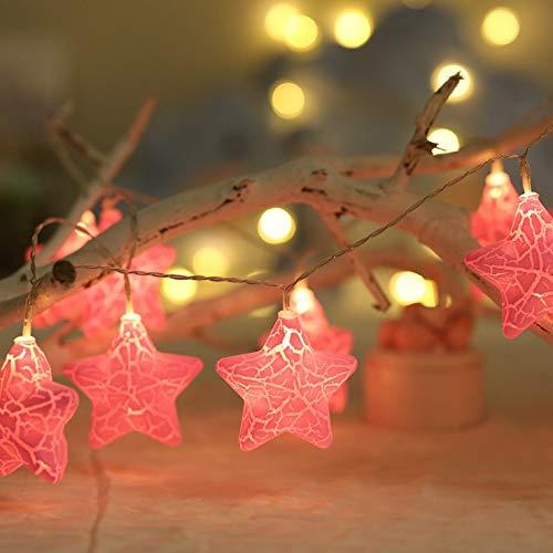 Wonderful Garland Light String Decorative Christmas Tree Wedding New Year Hanukkah Home Holiday Party Decor Lights Curtain (Emitting Color : Pink, Wattage : 4.5M30LEDs USB)