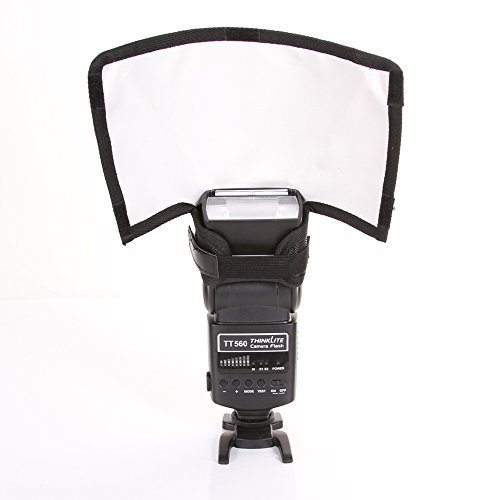 FOTGA Faltbare Blitz Speedlite Snoot Softbox Diffusor Reflektor Bender Mini-Reflektoren/Strahlrohr für Kamera DSLR Canon Nikon Blitz - Klein