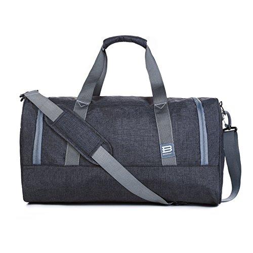 BAGSMART Duffle Bag Travel Duffel Bag Large Weekender Bag Carry-on Luggage with Shoe Bag 40L, Black