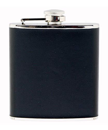 Relags Flasque en Cuir, Noir, 180 ML