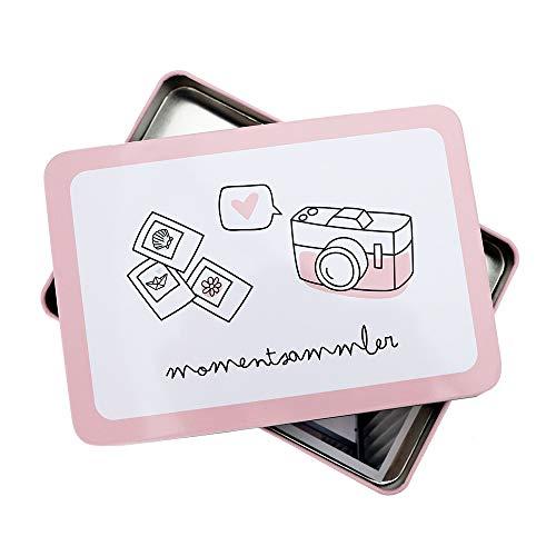 Odernichtoderdoch Aufbewahrungsbox | Momentsammler | Rosa - 16,5 x 11,5 x 2 cm - Metall - mit Deckel