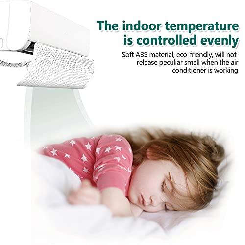Siebwin Deflettore per Condizionatore 27 * 90cm, non fa condensa non è necessario alcun attrezzo per Home Office (Bianco)
