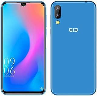 ELEPHONE A6 Mini Android 9.0 4Gスマートフォン - 5.7インチ最先端の液滴ノッチスクリーンデュアルSIMフリー携帯電話、MTK6761 2.0GHzクアッドコア4GB + 32GB、16MPフロントカメラ、16MP + 2MPリアカメラ (ブルー)