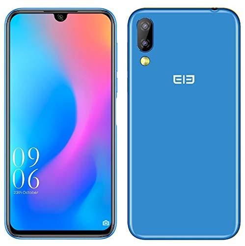 Elephone A6 Mini Android 9.0 4G Dual SIM Móvil Libre - 5.7 '' HD +Pantalla de Muesca de última vanguardia Smartphone,MTK6761 2.0GHz 4GB + 32GB,16MP Cámara Frontal,16MP+2MP Doble cámara Trasera Azul