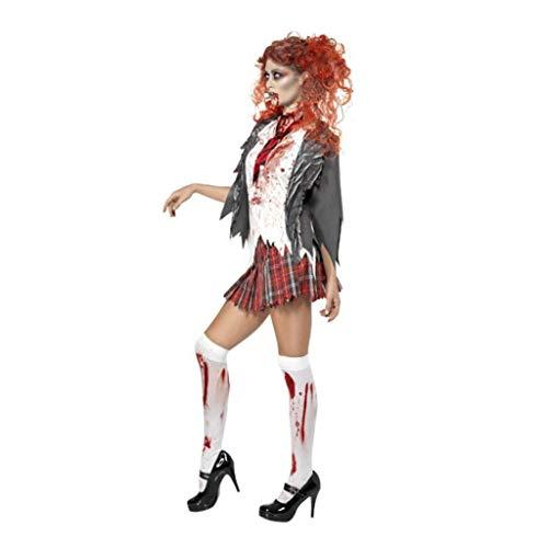 Disfraces de halloween mujer Zombi Colegiala de disfraces de Halloween de la hembra adulta, Colegio de internos de vestuario coqueteo, la enfermera fantasma novia traje de cosplay disfraces de hallowe