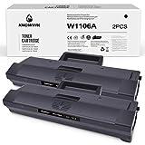 KNOWINK Cartucho de tóner compatible con HP 106A W1106A para HP Laser MFP 135w 135a 137fnw 135r 107a 107w 107r(2 Negros) (con chip)