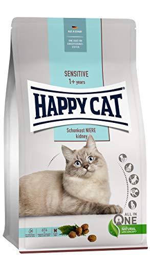 Happy Cat 70607 - Sensitive Schonkost Niere - nierenschonendes Katzen-Trockenfutter mit Geflügel - 1,3 kg Inhalt