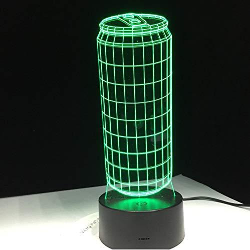 Kinder Nachtlicht Led Nachtlicht 3D Blechdosen 7 Farben Ändern Led Tischlampe Usb Gradienten Nachtlichter Modellierung Touch Kinder Geschenke Schlafzimmer Nachttischlampe Beleuchtung Dekor