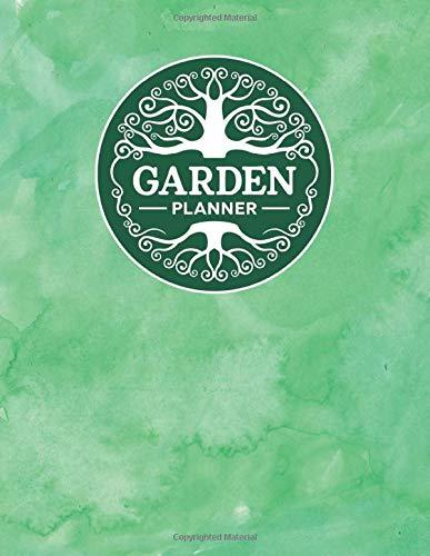 Garden Planner: Complete Garden Planning & Growing Journal for Home Gardeners (Green Watercolor Theme)