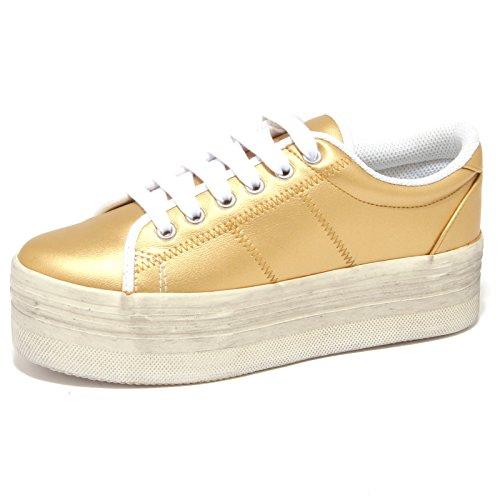 Jeffrey Campbell 9258O Sneaker Zeppa ZOMG Oro Scarpa Donna Shoe Woman [40]