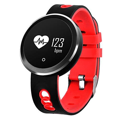 Q7 Pulsera inteligente Bluetooth con pantalla OLED HD de 0.95 pulgadas, resistente al agua IP68, podómetro compatible / recordatorio sedentario / monitor de frecuencia cardíaca / monitor de sueño, com