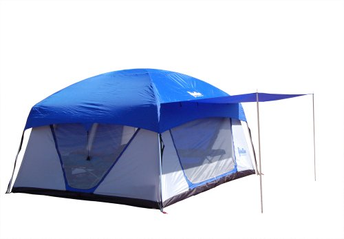 PahaQue Wilderness Promontory XD Tent-8 Person (Silver/Blue, 12 x 10 x 8-Feet)