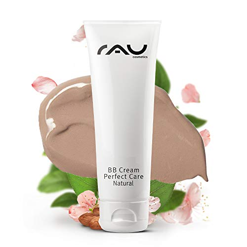 RAU Cosmetics BB Cream Perfect Care Natural für Trockene, Unreine, Normale Haut 75 ml - Make-Up, Pflege, UV-Schutz - Getönte Tagescreme mit Zink, Vitamin E, Mandelöl, Panthenol & Traubenkernöl