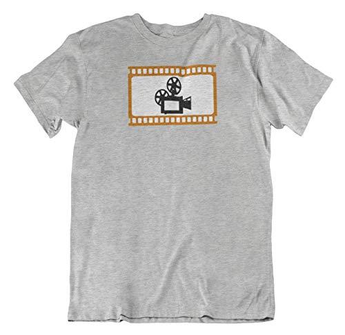 Old Fashion Movie Camera Best T-Shirt Present for Film Maker, Director & Cameraman Light Grey