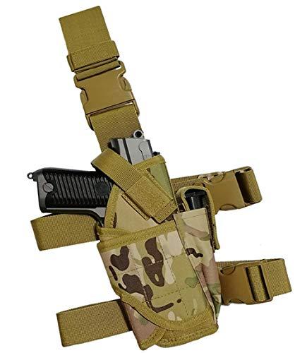 GHFY Molle Tactical Pistol Thigh Gun Holster, Drop Leg Holster, Right Hand Adjustable (CP)