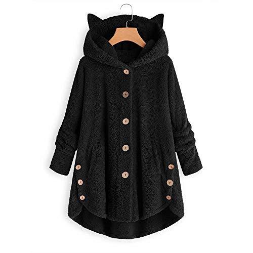 MA87 Damen-Winterjacke, lang, mit Kapuze aus Baumwolle, warm, für den Winter, Parka, lässig, dünn, aus Kunstleder warm