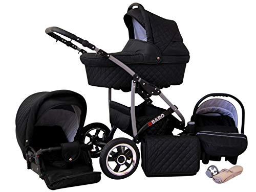 Poussette Combinée Trio landau 2en1 3en1 Isofix siège Auto Q-Step by SaintBaby noir 3en1 avec siège bébé