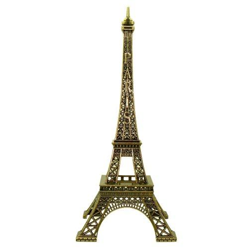 Souvenirs de France - Tour Eiffel Miniature Métal - Couleur : Bronze - Taille : 18,1 cm