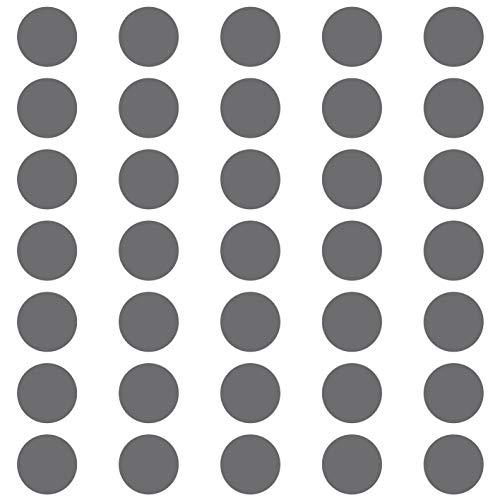 kleb-Drauf | 35 Punkte | Silber - glänzend | Wandtattoo Wandaufkleber Wandsticker Aufkleber Sticker | Wohnzimmer Schlafzimmer Kinderzimmer Küche Bad | Deko Wände Glas Fenster Tür Fliese
