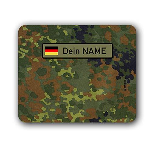 Mousepad BW Flecktarn mit deinem Namen Bundeswehr Namens Schild Streifen #35062