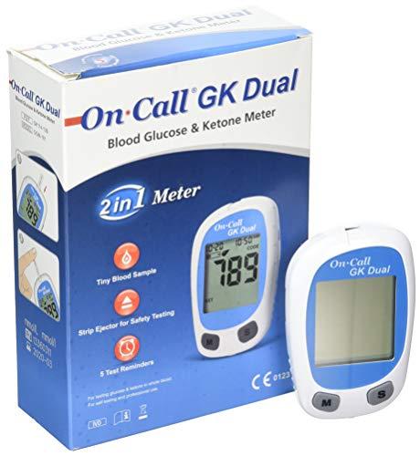 On Call GK Dual - Medidor de doble función para cetona en sangre y glucosa. Atención: Sólo el aparato de medición, otros accesorios están disponibles por separado.