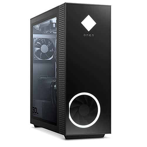 OMEN GT13-1022ng Gaming PC (Intel Core i7-11700K, HyperX RGB 32GB DDR4 3200 (2x16GB), WD BLK 1TB SSD NVMe, 1TB HDD, NVIDIA GeForce RTX 3090 24GB, Windows 10 Home, Flüssigkeitskühlung) schwarz