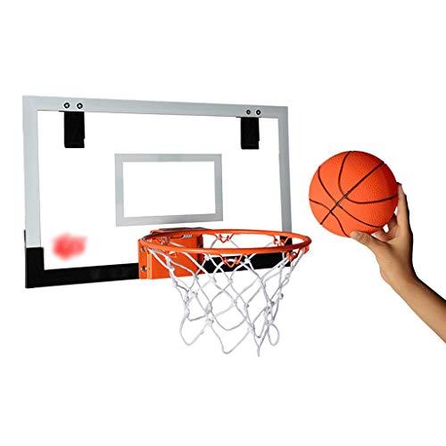 Nostalgie Mini Aro de Baloncesto para la Puerta Colgando el Aro de Baloncesto con el Balón de Baloncesto y La Bomba 17.7x10.4inches Resistente a la Rotura