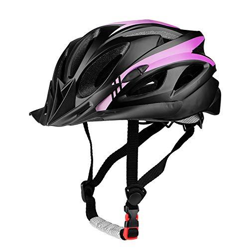 SUNRIMOON Adult Cycling Bike Helmet Bicycle Cycling Helmets Lightweight Road Bike Helmet Microshell Design Adjustable Size with Detachable Visor LED Safety Light for Women Men 21.26-24.41