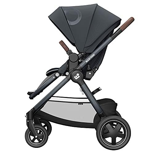 Maxi-Cosi Adorra² - Cochecito de bebé cómodo y plegable con cesta de la compra y múltiples posiciones de asiento, se puede utilizar desde el nacimiento hasta los 4 años (0-22 kg), color gris