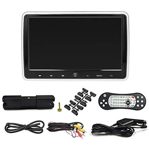 Montloxs JD-1018D 10.1' Reposacabezas para automóvil Reproductor de DVD Monitor automático Botón táctil Altavoces incorporados Soporte Disco de Juego FM IR Entrada HD AV IN out Ranura para Tarjeta de