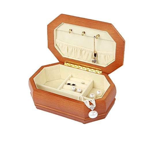 JYDQM Sólida de Madera de joyería de la Caja Portable Organizador Pecho del gabinete del Organizador del almacenaje de la Caja de joyería