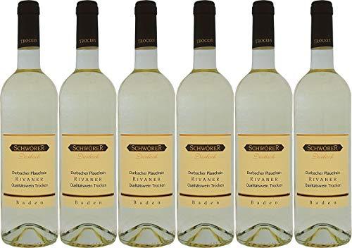 Schwörer Durbacher Plauelrain Rivaner Qualitätswein 2020 Trocken (6 x 0.75 l)