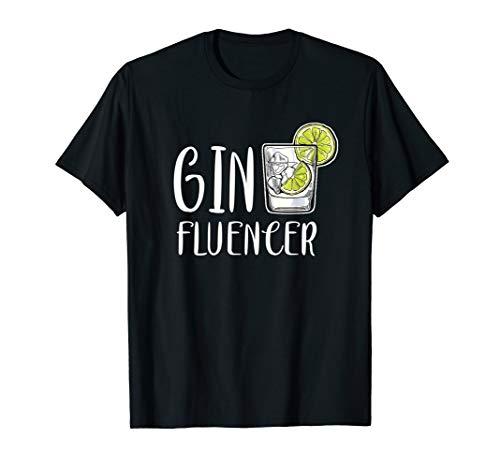 Ginfluencer Cocktail Gin Tonic Wacholder Schnaps Alkohol T-Shirt