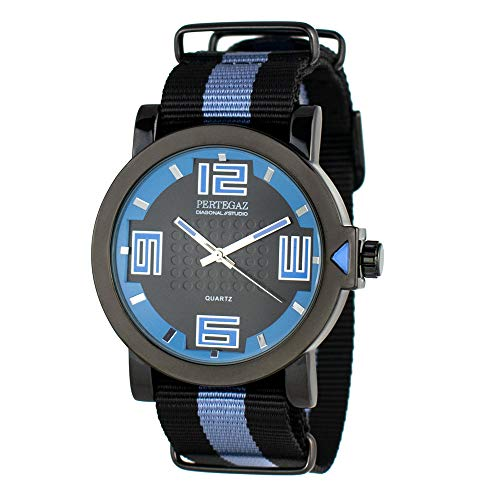 Pertegaz Reloj Analógico para Hombres de Cuarzo con Correa en Nylon PDS-023-NA