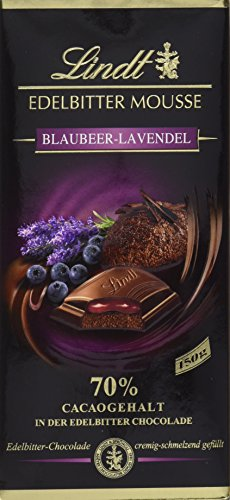 Lindt & Sprüngli Edelbitter Mousse Blaubeer Lavendel, 3er Pack (3 x 150 g)