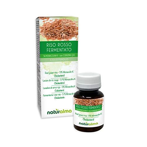 RISO ROSSO FERMENTATO (Monascus purpureus) Naturalma | 5% Monacolina k | 120 Compresse da 500 mg | Integratore con estratto titolato e concentrato | Vegano