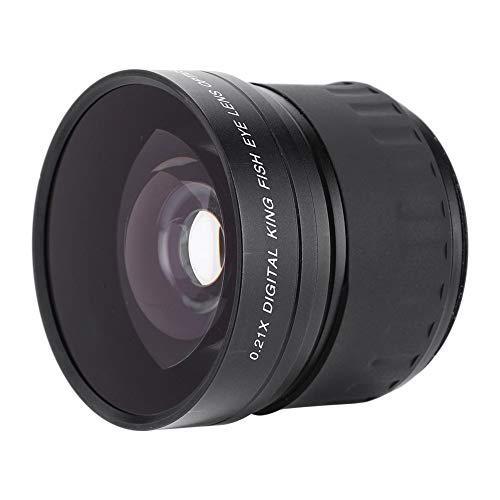 Lente Ojo de pez cámara réflex Digital DSLR, Lente Gran Angular Ojo de pez 0.21X de 58 mm sin diseño de ángulo Oscuro para Canon para Nikon para Sony para Olympus, etc.