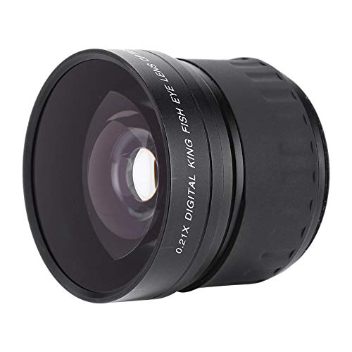 Vervanging van 58 mm cameralens, 58 mm 0,21X multi-coating optisch glas Groothoek Fisheye-lens voor Canon/Nikon/Sony/Minolta/Pansonic/Olympus/Pentax DSLR/SLR